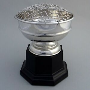 "Large Vintage Silver Plated Trophy Cup / Rose Bowl ~ 8"" x 6"" ~ Not Engraved"