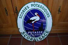 PLAQUE EMAILLEE POTASSE D'ALSACE SCORIES POTASSIQUES SCORALSACE EMAILLERIE ALSA.