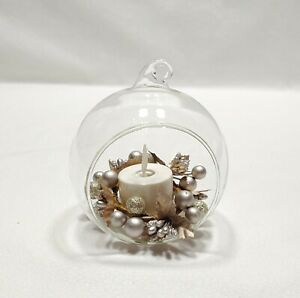 Luminara Real Flame-Effect Votive Candle Berry Ornament Silver Gold Accent