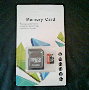 128 GB Memory Card and Adapter - New Unopened