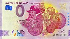 BILLET 0  EURO GUSTAV II ADOLF VASA  ANNIVERSARY KING OF SUEDE ...2020 N° DIVERS