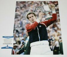 TENNIS JOHN MCENROE SIGNED GRAND SLAM 11x14 PHOTO BECKETT COA WIMBLEDON US OPEN