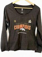 NFL Pro Line Denver Broncos Superbowl Champions Women's Long Sleeve Shirt Size M