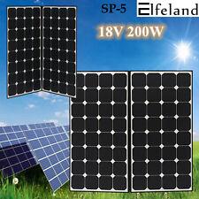Elfeland 200W 18V Flexible Sun Power Monocrystalline Solar Panel Battery Charger