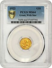 1922 Grant with Star G$1 PCGS MS64 - Classic Commemorative - Gold Coin