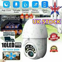 1080P WIFI IP Camera WHITE Wireless Outdoor CCTV HD Home Security IR Cam V380 UK