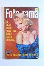 Vtg FOTO-RAMA March 1958 PinUp Girl Magazine Laya Raki Brigitte Bardot Stripper