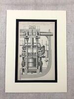 1880 Antico Stampa Vittoriano Vapore Motore Oceano Liner RMS Arabia 19th Secolo