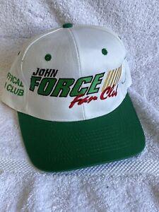Vintage NHRA John Force Fan Club Snapback Hat Cap