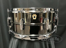 Ludwig Snare Drum USA 6.5x14 Black Beauty Black Nickel over Brass Smooth Shell