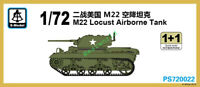S-model PS720022 1/72 Scale M22 Locust Airborne Tank model (1+1) 2019 NEW