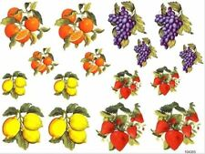 VinTaGe IMaGe AsSorTeD FruiT CounTrY KiTcheN ShaBbY WaTerSLiDe DeCALs