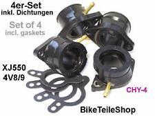 NEW: 4x Carburetor holder for YAMAHA XJ 550 4V8 /9 XJ550 YICS / intake manifold