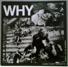 DISCHARGE Why LP PUNK ROCK Hardcore D-Beat BLACK VINYL Reissue ENGLISH DOGS GBH