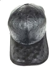 UNI-SEX BLACK HAT OSTRICH ONLY (%100 GENUINE)WT,FULL LINING .SNAPBACK,ONLY