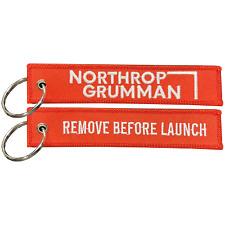 Bl6-013 Northrop Grumman Remove Before Launch Keychain or Luggage Tag or zipper