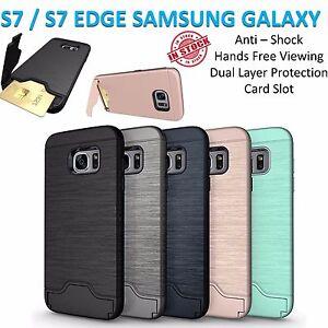 Samsung S7 Case S7 Edge Cover Armor Kickstand Shockproof Tradesman Card Holder