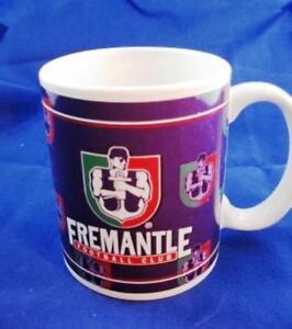 FREMANTLE DOCKERS AFL LOGO TEAM SONG CERAMIC COFFEE MUG IN BOX 10OZ