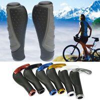 2 pcs route VTT vélo de montagne vélo Lock-On guidon main barre poignées