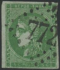 "FRANCE STAMP TIMBRE N° 42Be "" CERES BORDEAUX 5c VERT TRES FONCE "" OBLITERE J858"