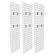 Display Grid Rack 3 Pack Metal Panel Wall Stand Retail Store Art Organizer