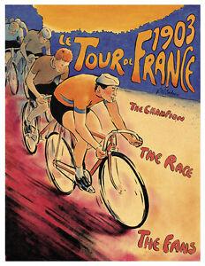A3 Size - Paris 1st Edition Tour de France Cycling Vintage 1903 posters  #3
