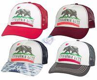 New Billabong Women's Pitstop California Love Mesh Snapback Trucker Hat Cap