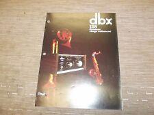 dbx 118 original catalogue