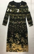 Roberto Cavalli Jersey V-neck Dress Oriental Print Size IT44 UK12 BNWT RRP £405