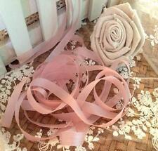 Shabby Chic Vintage Old Pink Faux Rayon Silk Ribbon Trim Wedding Doll 2M x8mm
