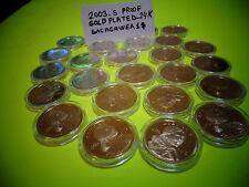 *LOT OF 2*2003 S 24 KT GOLD Native American-Sacagawea $*Deep PROOF Cameo US GEM