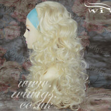 Wiwigs Long Curly Blonde 3/4 Fall Hairpiece Extension Ladies Wig