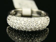 14K Womens White Gold Wedding Band Diamond Ring 1.0 Ct