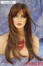 """""""STEVIE"""" AMORE DOUBLE MONOTOP WIG *COFFEE LATTE ☆ TURN HEADS W/ THIS BEAUTY 548"""