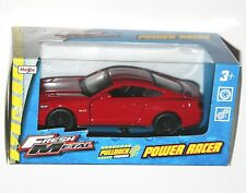 Maisto - FORD MUSTANG GT (Red) 'Fresh Metal' Power Racer Model Scale 1/38