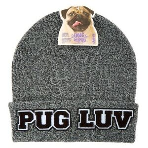 """Doug The Pug """"Pug Luv"""" Knit Beanie/toboggan/hat - Brand New With Tags"""