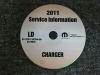 2011 Dodge Charger Factory OEM Shop Service Repair Manual CD R/T SRT8 3.6L 5.7L