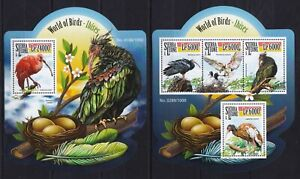 Sierra Leone 2015 - Shape / IBISES World of Birds Nature Fauna - stamps MNH** Bi
