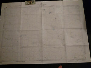 Antique Vintage US Navy  Nautical Chart  Aeronautical Map  Tuvalo Island Pacific