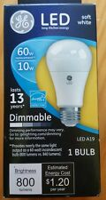 (19 BULBS) GE LED Light Bulb #67511  A19 Dimmable Bulb (60W Replacement)