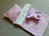 "American girl doll  Cot Bedding Set x3 , pillow duvet toy 18 "" doll pink unicorn"