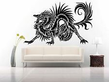 Wall Room Decor Art Vinyl Sticker Mural Decal Tribal Monster Dragon Draco FI586