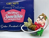 Grolier Grumpy President's Edition Ornament Disney Snow White and the 7 Dwarfs &