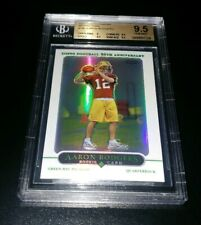 2005 Topps Chrome Aaron Rodgers Rookie REFRACTOR BGS 9.5 GEM MINT ... BEAUTY !!