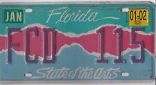 😁😊😀 AUTHENTIC USA 2000's FLORIDA ARTS LICENSE PLATE.