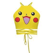3D Pokemon Tops Pokemon Printed Halter Crop Tops Tank Vest Tops Fashion Bandage