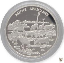 KONGO (Republik), 1000 Francs, 2002, Tierwelt Afrikas, KM#68, Polierte Platte
