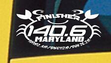 2017 Or Any year Ironman Maryland 140.6 Triathlon Finisher Decal Sticker