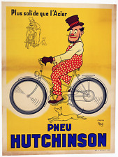Pneu Hutchinson Vintage Bicycle Poster - Cycling - Mich