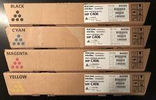 4x ORIGINAL TONER Ricoh Aficio MP C306 ZSP zspf / MP C406 zspf / 842095-842098